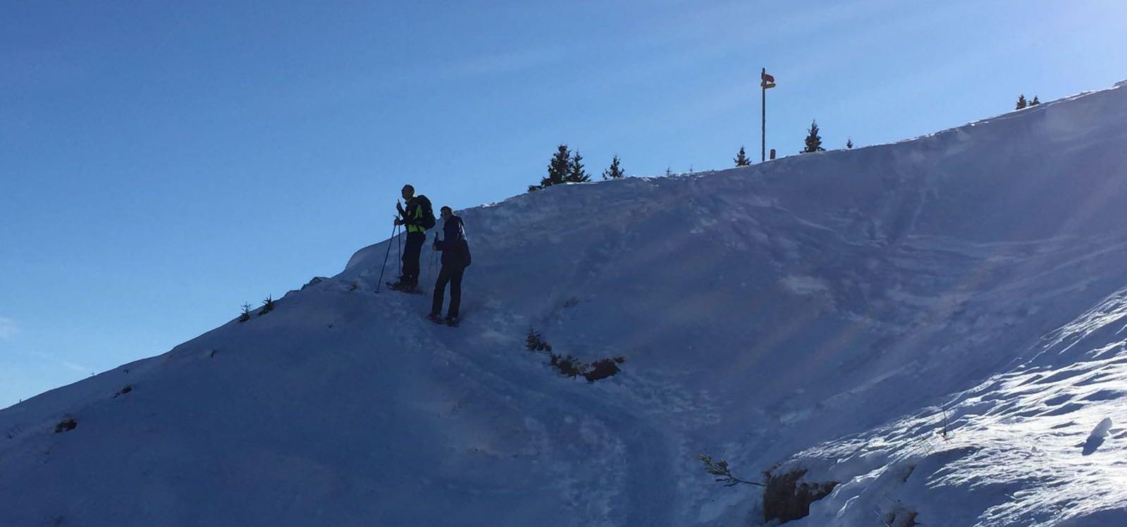 Schneeschuhwanderung im Gebiet Sattelegg & Chli Aubrig